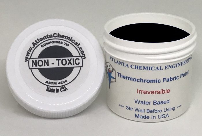 Blue-Colorless Thermochromic Fabric Paint