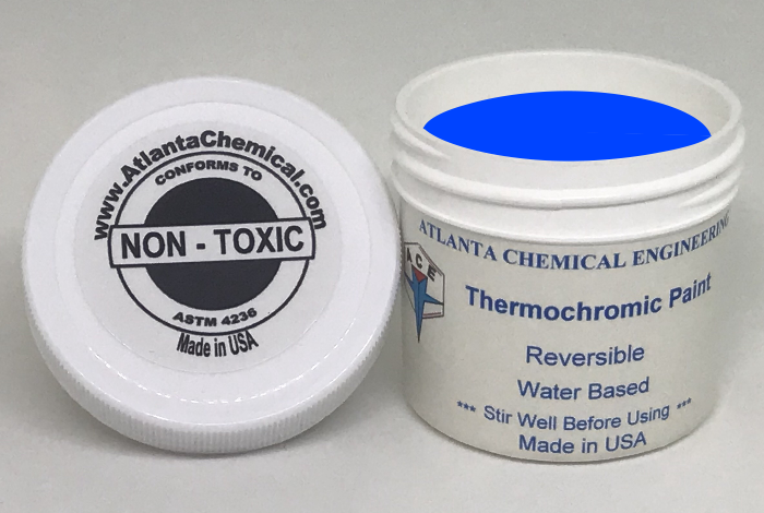 Pink-Blue Thermochromic Paint