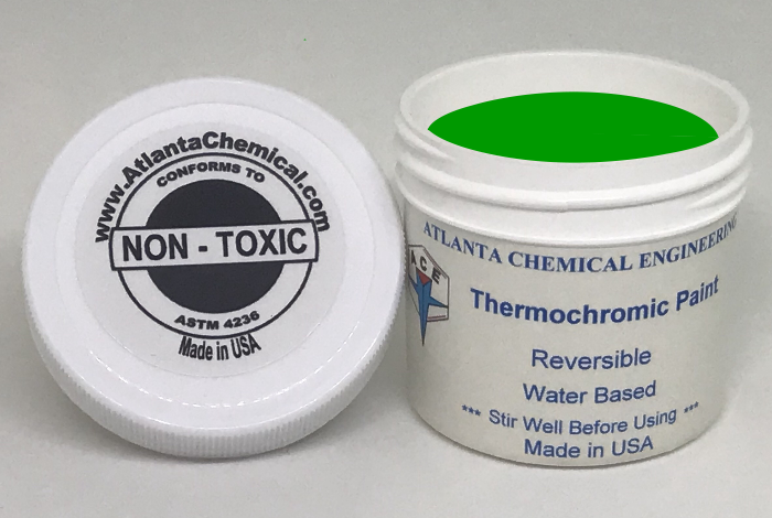 Green-Yellow Thermochromic Paint