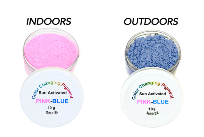 Pink-Blue Sun Activated Pigment