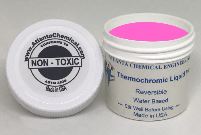 Pink-Colorless Thermochromic Liquid Ink